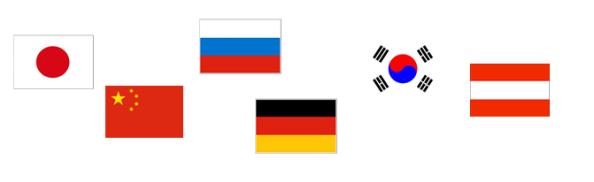 Top 6 October Countries